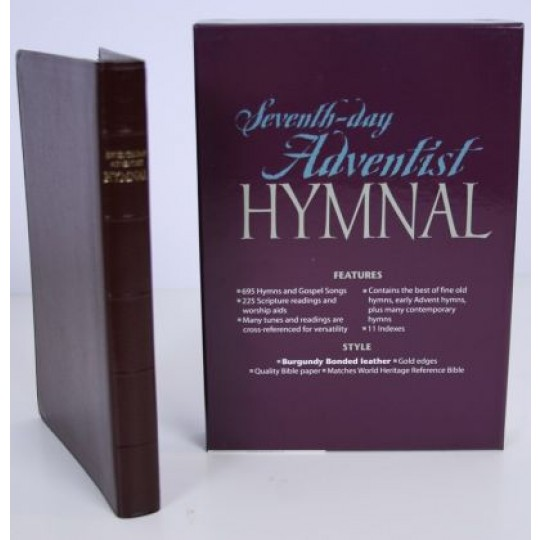 Seventh-day Adventist Hymnal - Bonded Leather: Burgundy