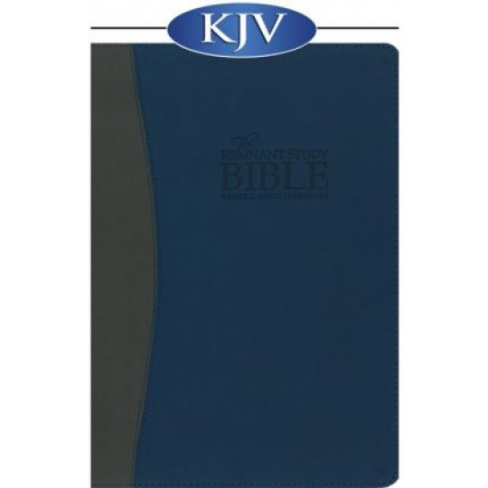 Remnant Study Bible (KJV) Leathersoft: Blue/Grey