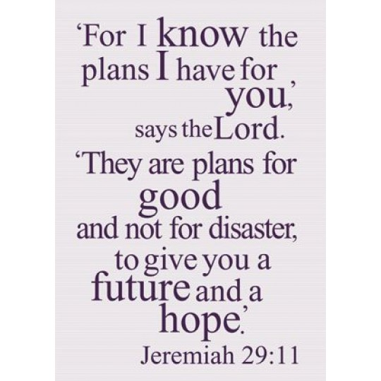 Prayer journal - For I know the plans I have for you - plans for good